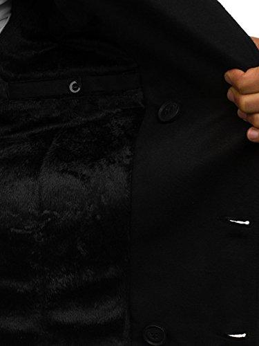Bolf Da Cappotto Bottoni Revers Cerniera 3018 Collo – Semi Elegante 4d4 Uomo Nero Con Monopetto qqF4HTrx