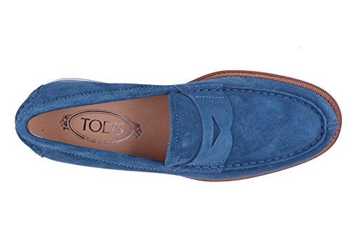 Tod's mocasines en ante hombres nuevo blu