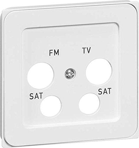peha Abdeckung 4-Fach rws D 95.610.02 TV//4A f/ür Antennendose Dialog Einsatz//Abdeckung f/ür Kommunikationstechnik 4010105813210