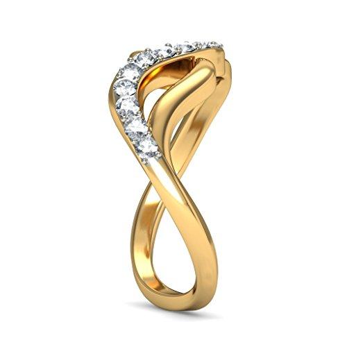 14K Or jaune, 0,2CT TW Diamant Blanc (IJ | SI) en diamant