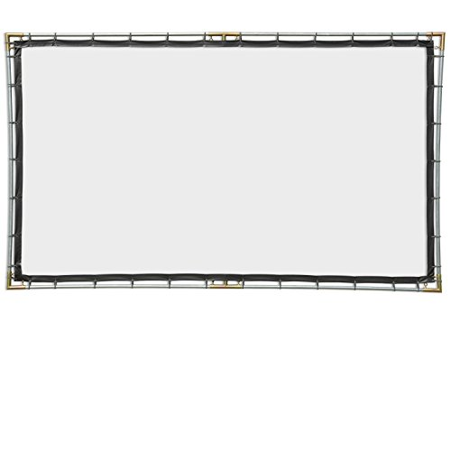 Carl's FlexiWhite Hanging Projector Screen Kit (16:9 | 6.75x12-Ft | 165-in | Folded) Portable, Outdoor Projector Screen, HD, 3D, Dark/Controlled Ambient Light, DIY Outdoor Movie Screen, 1.1 Gain ()