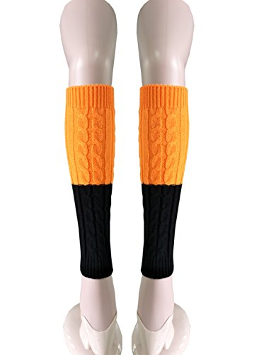 Women's Cable Knit Leg Warmers 80s Knitted Crochet Adult Long Socks
