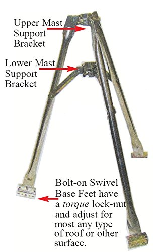 Hy-Gain TP-3 3 Foot Self Supporting Tripod for Roof or Ground Mounting