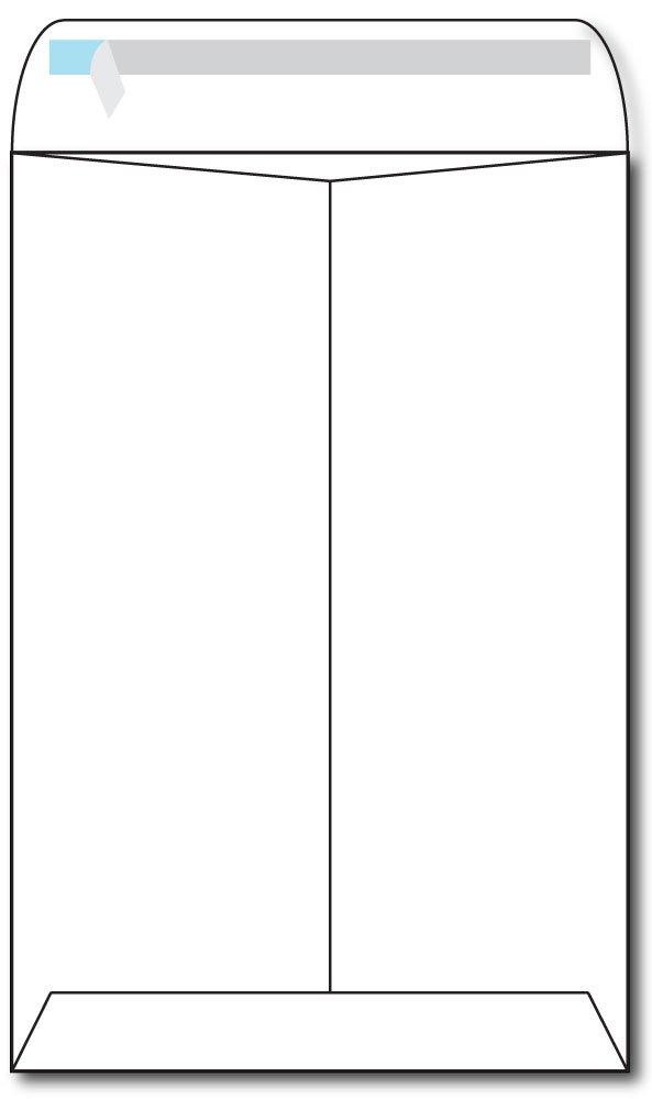 Heavyweight White 6'' x 9'' Envelopes w/ Self Seal Catalog Style Flap - 100 Envelopes