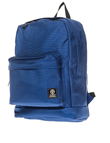 Franklin & Marshall Men's Unisex Blue Backpack With Front Pocket In Size One Size Blue