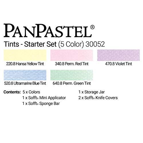 PanPastel 30052 Ultra Soft Artist Pastel Starter Set - Tints 5 Color Set w/Sofft Tools
