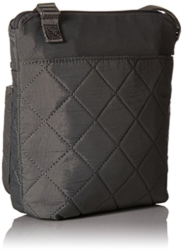Quilted Rfid Pocket Crossbody with Pewterquilt Baggallini agUSqdxSw