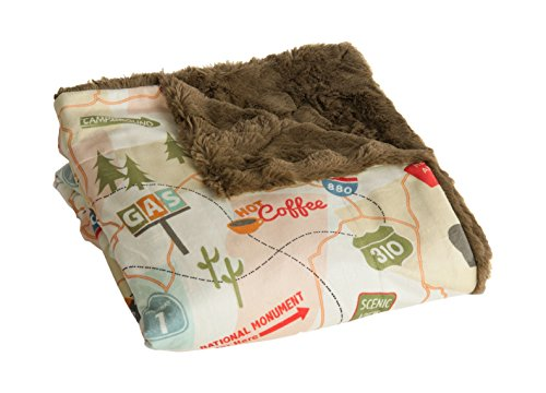 Camp Casual Travel Map Throw made our list of Gifts For Active Women, Gifts For Women Who Hike, Gifts For Women Who Fish, Gifts For Women Who Camp
