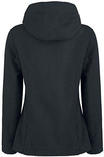 Brandit Girls Duffle Coat Girl-Mantel Schwarz Schwarz ZDO09E9sg
