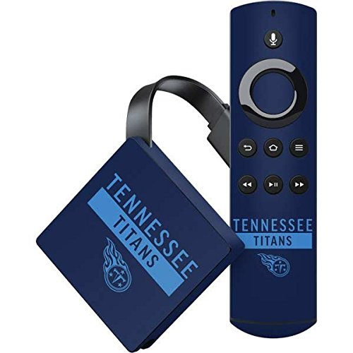 (Skinit NFL Tennessee Titans Amazon Fire TV Skin - Tennessee Titans Navy Blue Performance Series Design - Ultra Thin, Lightweight Vinyl Decal Protection)