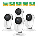Cheap SMONET IP Security Camera, Home Security Camera Wireless with Two-Way Audio, Night Vision, Full HD 1080P 2.0 Mega-Pixel Indoor Surveillance Camera for Elder/Baby/Nanny/Pet Monitor (White,4Packs)