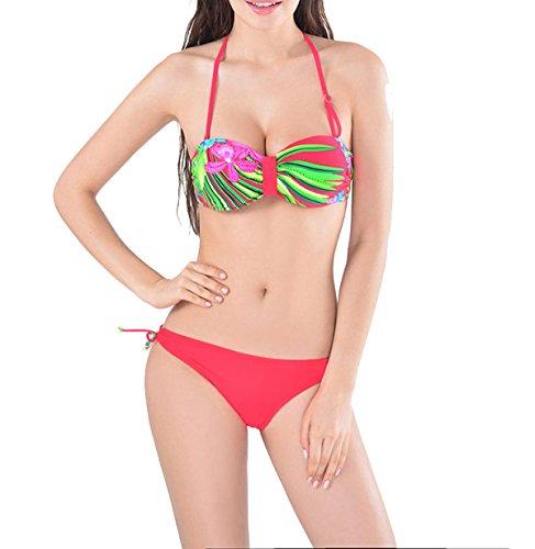 2.017 Ms Atractivo De Dos Piezas Del Bikini Red