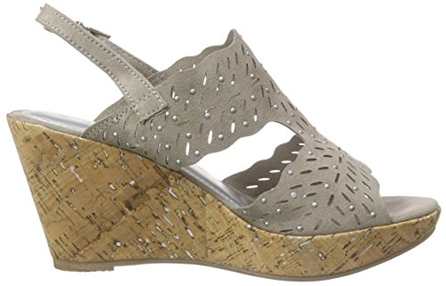 Marco Tozzi 28364 - Sandalias de Vestir de Lona Para Mujer Beige