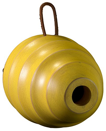 Byer of Maine BeeHive Bird Home by, Mango Wood, Painted, Sized for Small Songbirds, [Color], 6