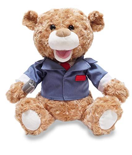 Cuddle Barn Animated Singing Plush Bear 12 inches Tony Broadway New York