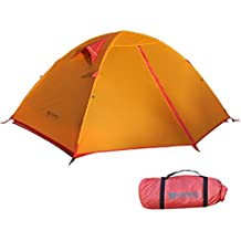 Backpacking Tent Camping Tent 3 Season Ultralight Silicone Coating Double Layer Weatherproof Waterproof Aluminum Rod Anti-UV for Outdoor Hiking Travel Hunting Beach by Weanas