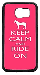 Keep Calm and Ride On - Color Design Samsung? Galaxy S6 Case Cover front Bumper Protection for Samsung Galaxy S6