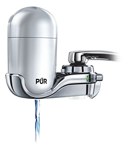 (PUR FM-4100B 3-Stage Vertical Faucet Water Filter System, Gray )