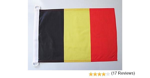 AZ FLAG Bandera Nautica de BÉLGICA 45x30cm - Pabellón de ...