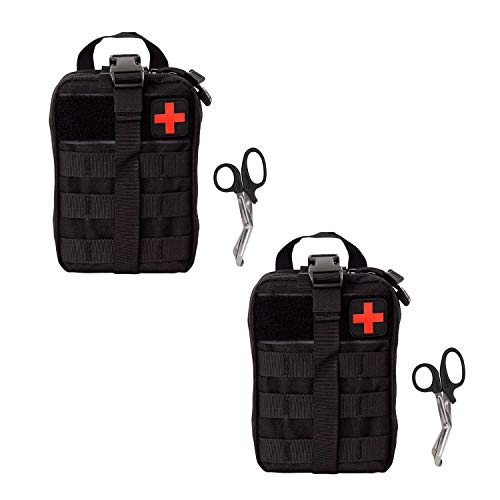 Krisvie Tactical EMT Medical Pouch 1000D Nylon Utility Bag with First Aid Patch and Shear ()