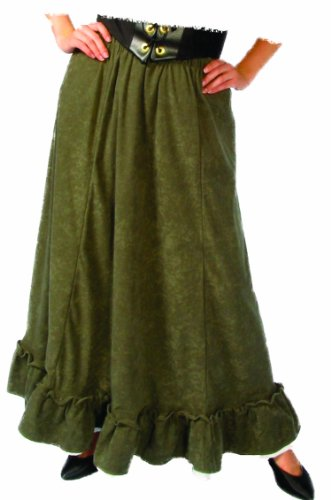 - Alexanders Costumes Women's Renaissance Peasant Skirt, Green, One Size