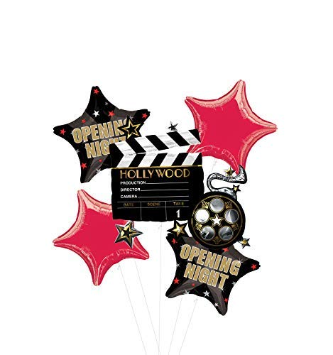 Opening Night Movie Party Supplies Balloon Bouquet Decorations Hollywood Film Clapper