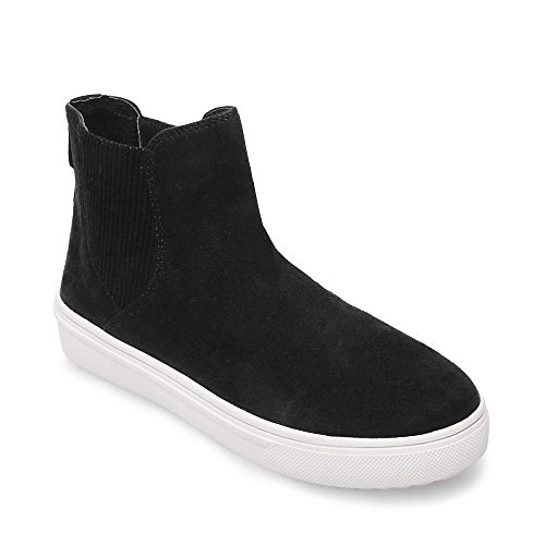 STEVEN by Steve Madden Women's Coal Fashion-Sneakers, Black, 6.5 M (Steven Suede Wedges)