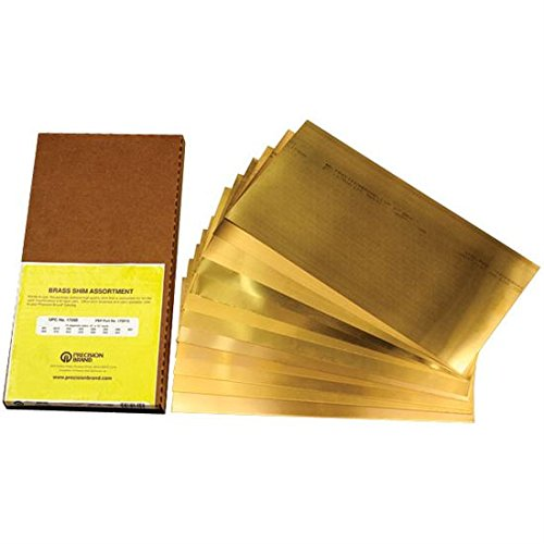 PRECISION BRAND Brass Flat Shim Assortments - Model: 17SF-15 Thickness: .001