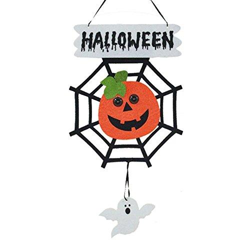 LAAT Halloween Hanging Door Decoration Doors Tents Nonwoven Fabric Hanging Decorations Hanging Sign Indoor / Outdoor Decor Hanging Signs, Witch, Pumpkin, Ghost -