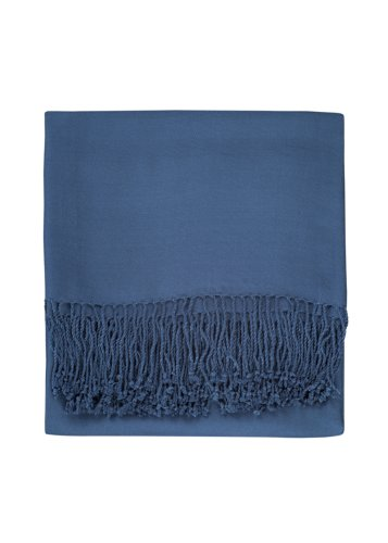 Woven Bamboo Throw (Nine Space Viscose from Bamboo Solid Throw Blanket, Midnight Blue, 50