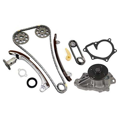 (MOCA Timing Chain Kit & Water Pump for 2001-2009 Toyota Camry & Toyota Corolla Matrix RAV4 Solara & 05-06 Scion TC 2.0L 2.4L L4 1AZFE 2AZFE)