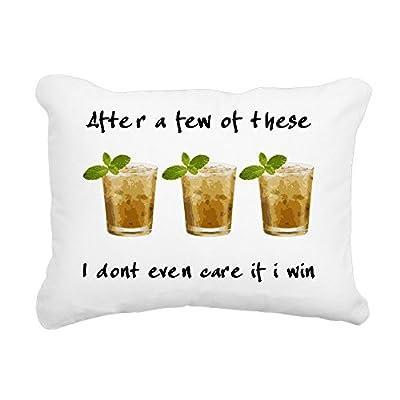 "CafePress - Mint Julep_Light Shirt - 12""x15"" Rectangular Canvas Pillow, Decorative Throw Pillow with Piping, Accent Pillow"