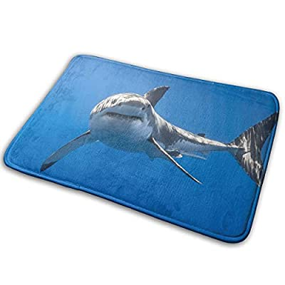 Elizadaisy Great White Shark Door Mats 23.6x15.8 Inches Non Slip Indoor/Outdoor Floor Door Mat Living Room Floor Carpet Mat Home Decor Area Rug