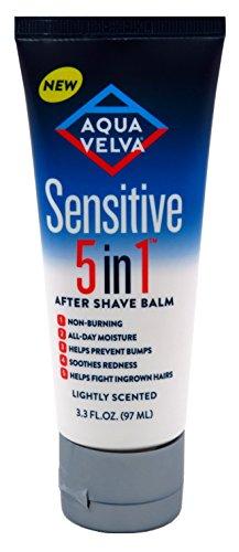 Sensitive Balm - Aqua Velva Sensitive 5-In-1 After Shave Balm 3.3 Ounce Tube (97ml) (3 Pack)