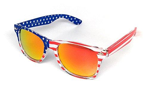 6da06feb5606 Galleon - WebDeals - Sunglasses Classic 80s Style Assorted Color Frames And  Lenses (RWB
