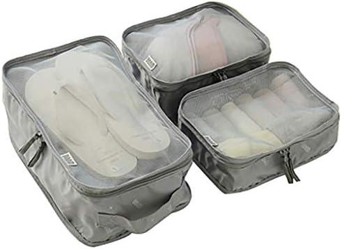 トラベルポーチ収納バッグ 旅行衣類収納袋、荷物収納袋、防水・通気性大容量、3セット、出張用、旅行用、家庭用収納 (Color : C)