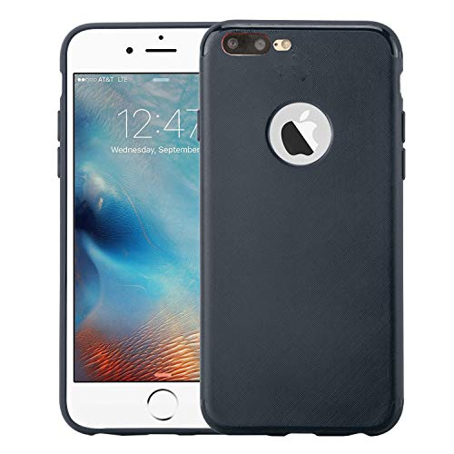 iPhone 7 plus Case rubber Ultra Thin Slim shockproof Soft Cover Lightweight Rubber Case for Apple iPhone 7 plus - Navy Blue