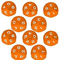 Febbya Dice D10,Polyhedral Dice Set 10 Pack for