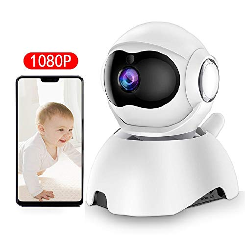 DEYAN Baby Monitor, WiFi Baby Camera 1080P, pet Camera, 360 Degree Home Security Camera, Motion Tracking, Super Infrared Night Vision, Two-Way Audio, Motion and Sound Detection