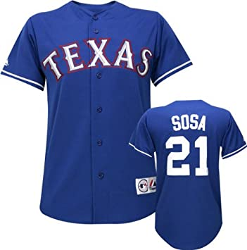 more photos 443ea 8077a Amazon.com : Majestic Sammy Sosa MLB Alternate Royal Replica ...