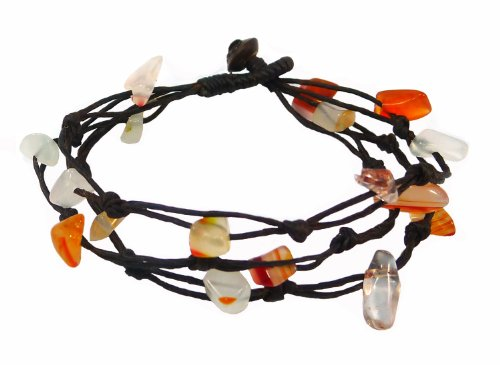 Bijoux de Ja Handwoven Carnelian Chip Bead Wax Cord Strand Bracelet 7.0 - Co & Tiffany Instagram