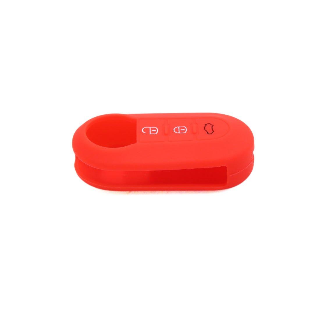 uxcell Red Silicone Three Button Car Remote Key Cover Case Protective for Fiat 500 Viaggio Ottimo Tipo a18010800ux0106