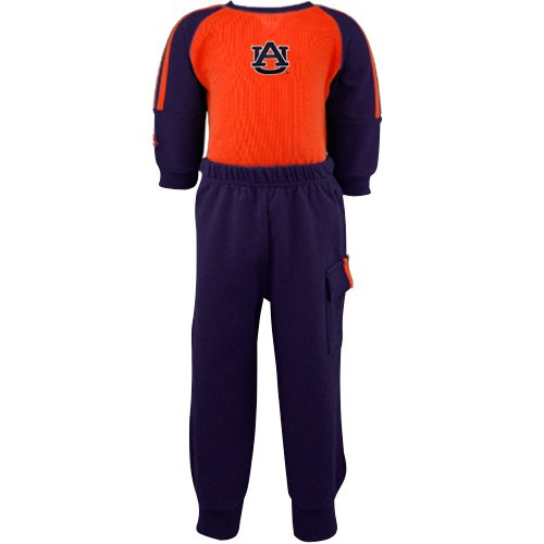 NCAA Infant/Toddler Boys' Auburn Tigers Windsuit (Navy, 3/6 - Boys Windsuit