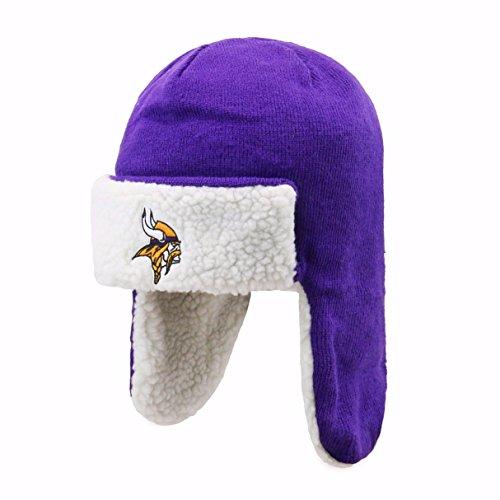 OTS NFL Minnesota Vikings Breck Sherpa Hunter Knit Cap, Purple, One Size by OTS