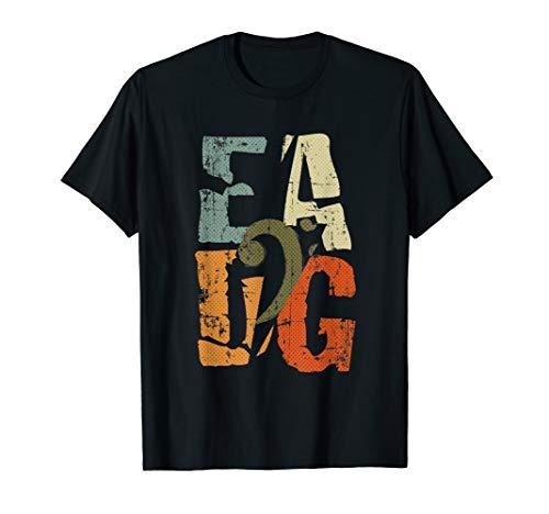 Bass Guitar Player EADG Bass Clef Gift for Bassist T-Shirt