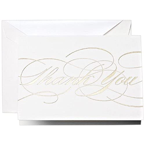 cheap crane co gold flourish thank you notes ct1330 pack of 10