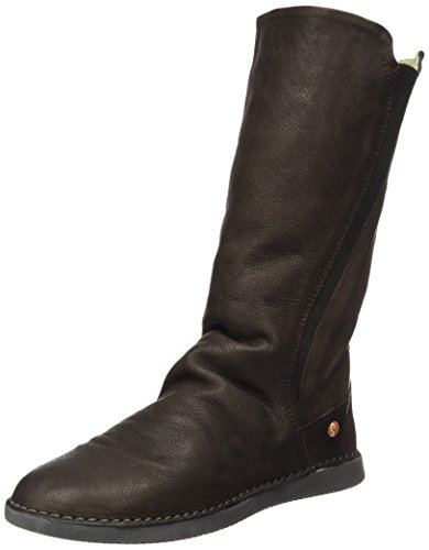 Softinos Women''s Braun Boots Smooth Teya328sof dk Slouch Brown BrxSqBw8