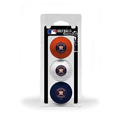 Team Golf MLB Houston Astros Regulation Size Golf Balls, 3 Pack, Full Color Durable Team Imprint