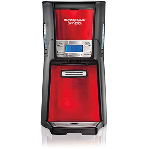 Hamilton Beach BrewStation 12-Cup Dispensing Coffeemaker, 48466-MX, Candy Apple Red Brew multiple cups of coffee and dispense 1 fresh cup at a time