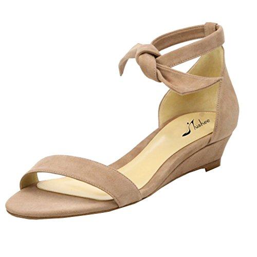 Jushee - Zapatos de tacón  mujer Beige